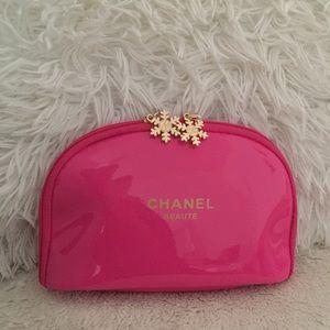 Chanel snowflake makeup bag